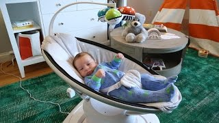 Watch a baby test out this smart infant seat